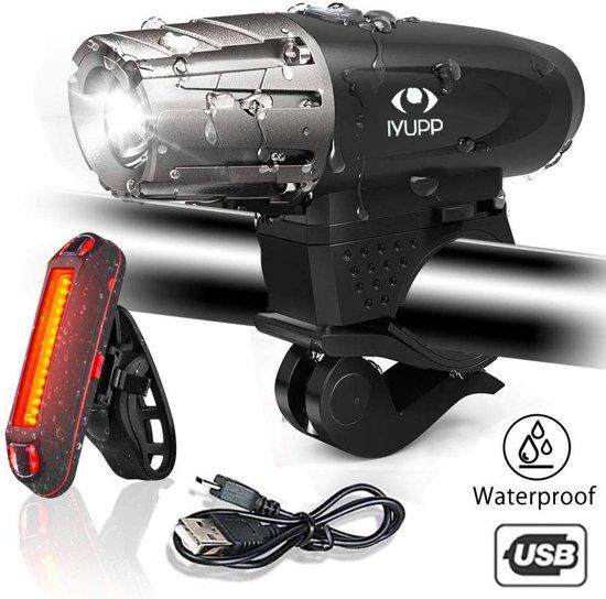 Fietsverlichting USB Oplaadbaar LED Fietslampen Premium